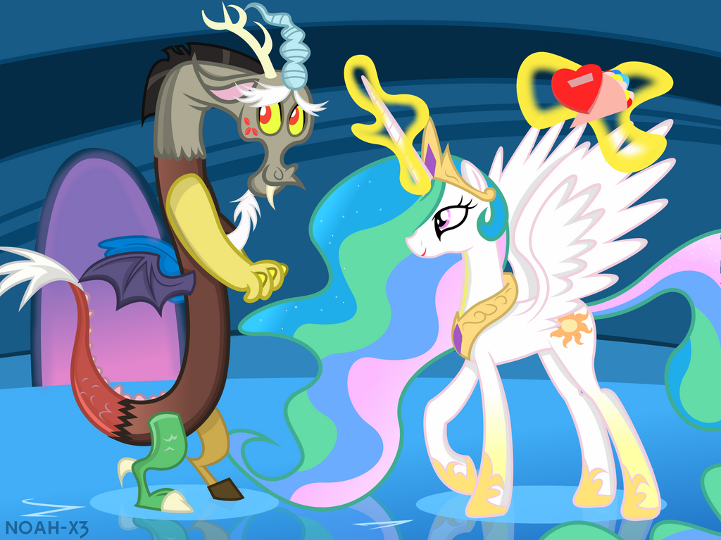 Celestia And Discord by Noah-x3