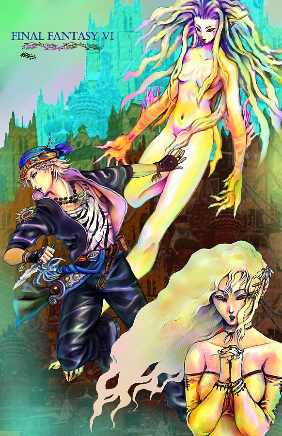 Final fantasy VI 6 group by meomeoow