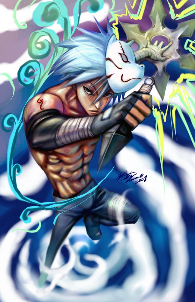 Kakashi + muscle by meomeoow