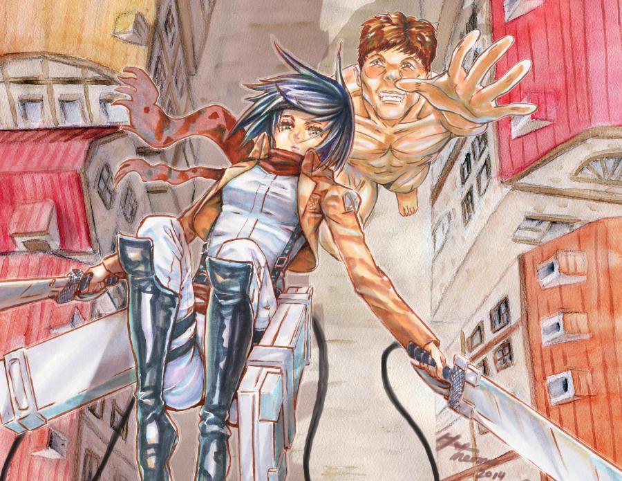 Attack on Titan Mikasa by meomeoow