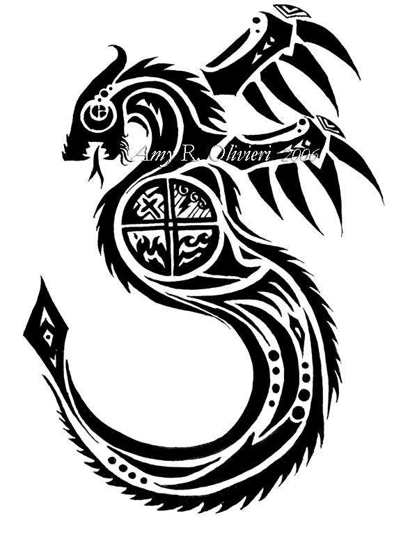 tribal dragon tattoo by thewolvencanineclan on deviantart. Black Bedroom Furniture Sets. Home Design Ideas