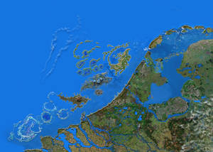 Zoomable map artificial Dutch islands