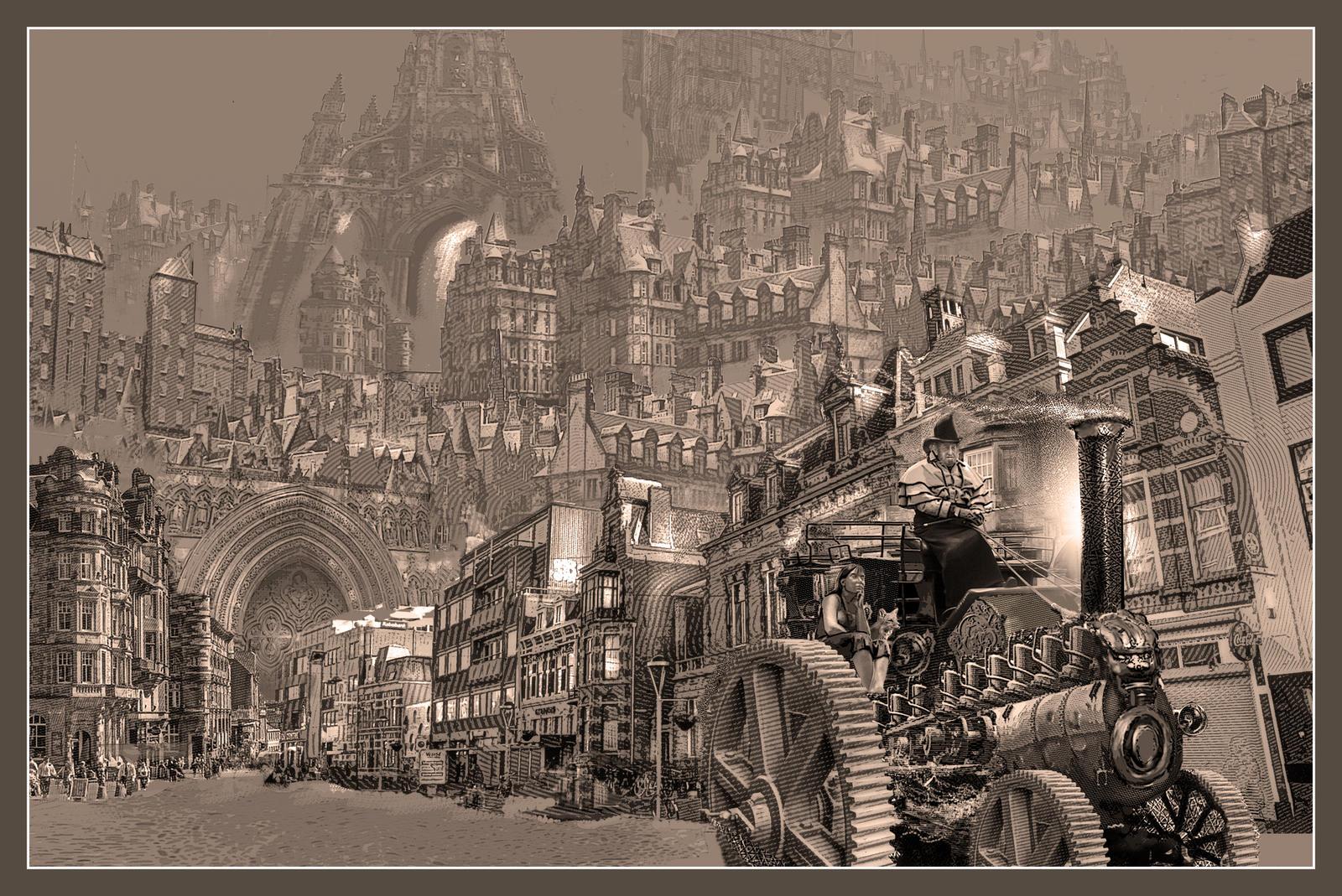 Huy Jorsaleem, steampunk city by taisteng on DeviantArt