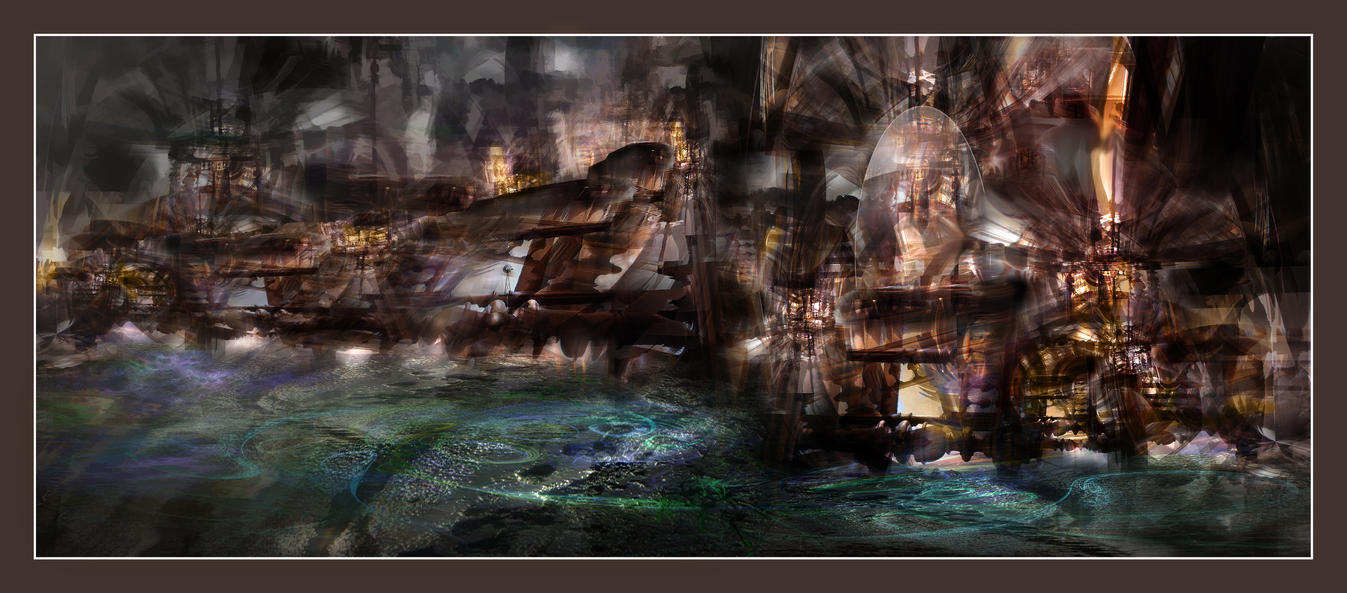 A steampunk city never sleeps by taisteng