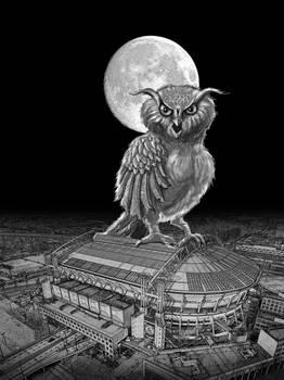 Giant horned owl