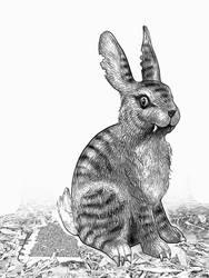 Blue-stripe-rabbit by taisteng
