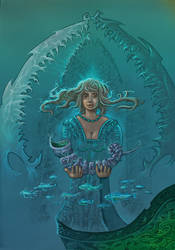 Ran, the Viking goddess of the Sea by taisteng