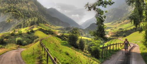 Mur Fahrradweg panorama by taisteng