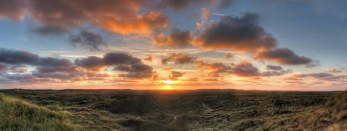 Panorama Terschelling sunset by taisteng