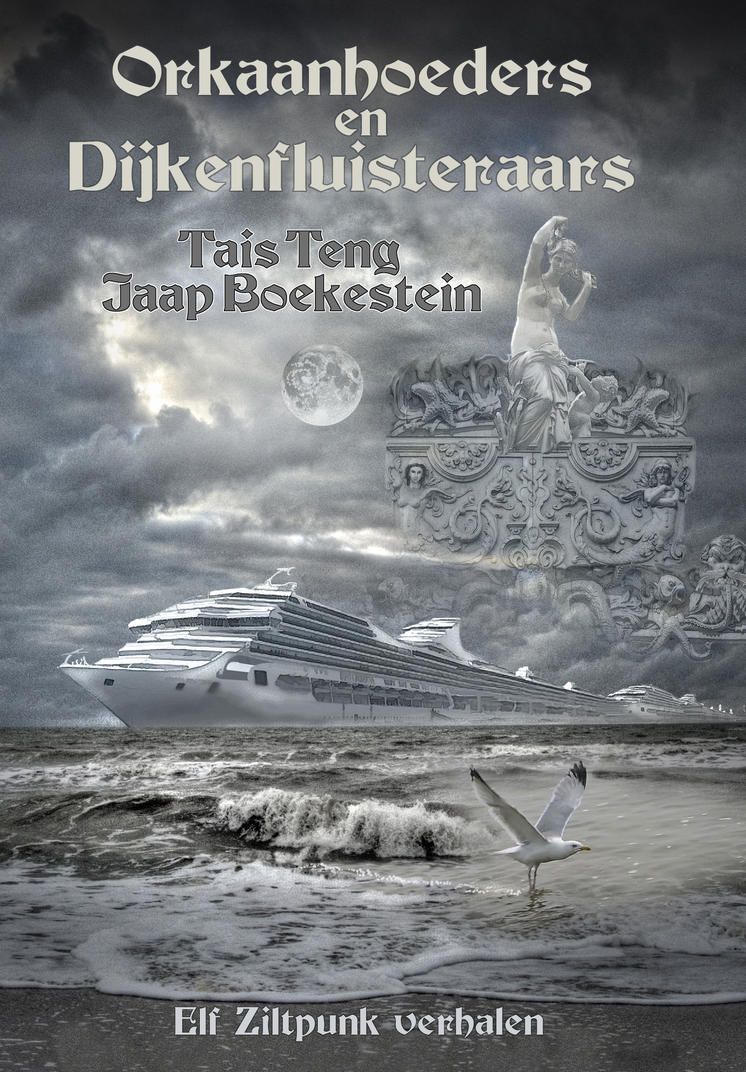 Front cover ORKAANHOEDERS met lettering by taisteng