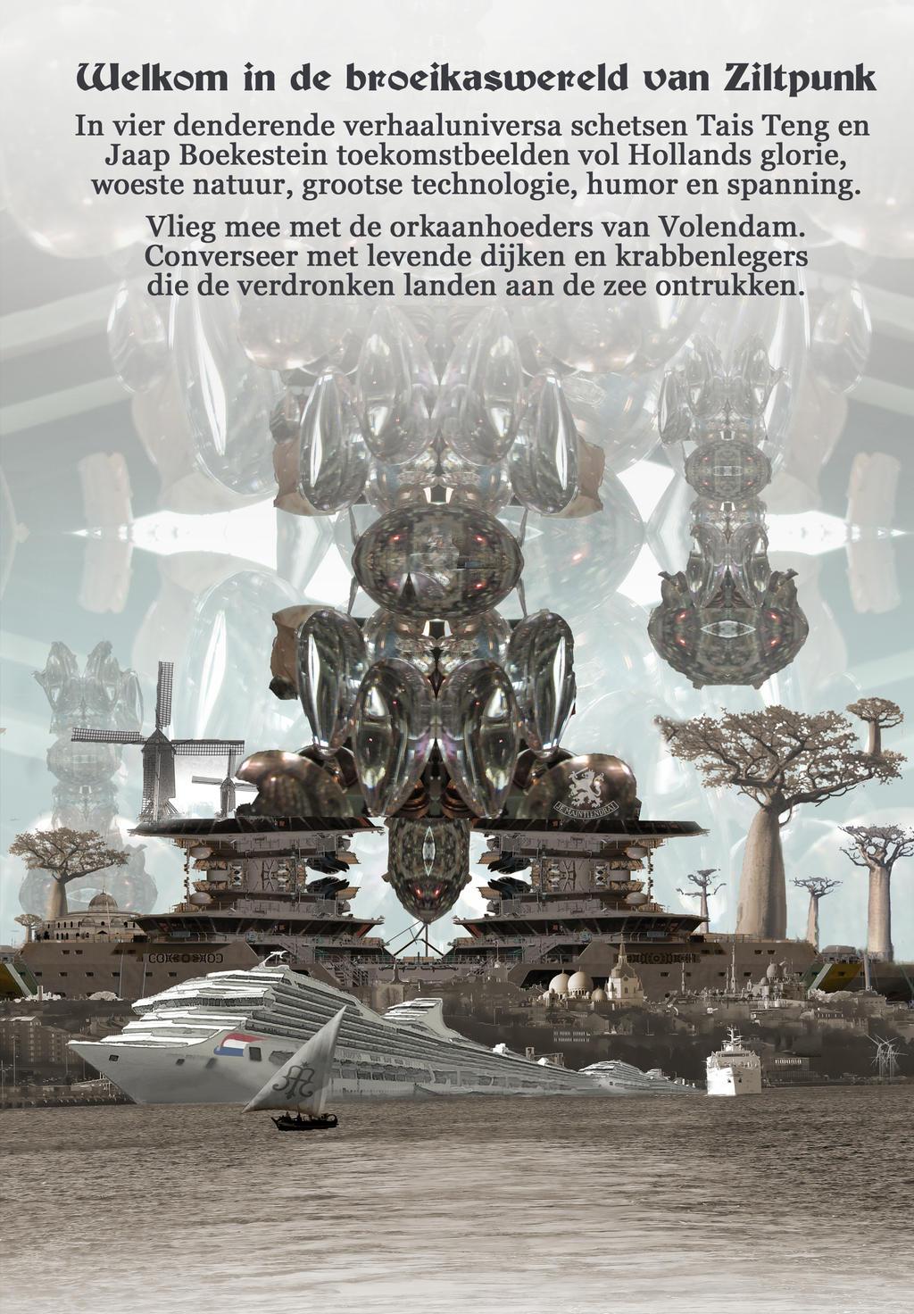 back cover ORKAANHOEDERS EN DIJKENFLUISTERAARS by taisteng