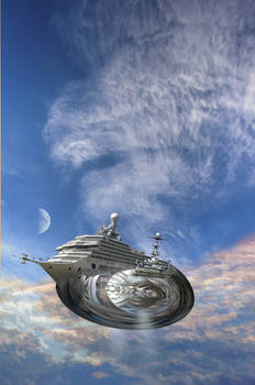 The E.L. Cavor memorial moon ship