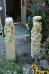 Statues in garden - backside by taisteng