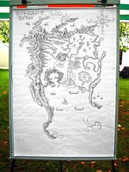 Hand-drawn map Tolkien style