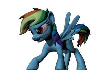 My Little Pony Rainbow Dash Refracted Figurine by harveyhesko