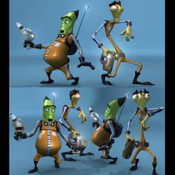 Brett Bean's Phil and Mantis 3D Character Models by harveyhesko