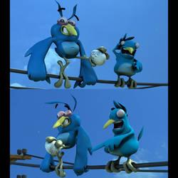 Mathieu Beaulieu's Twitter Birds Character Models by harveyhesko