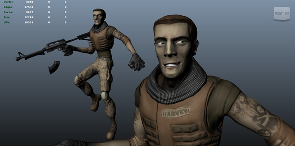 Combat Harvey (Self Caricatured Character) Model by harveyhesko