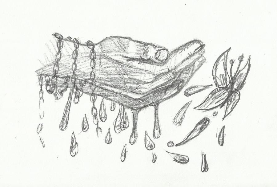 Pencil Drawings Of Jesus Hands