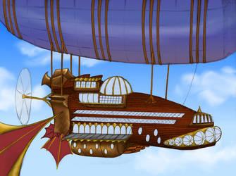 Skyship by ObsidianPyre