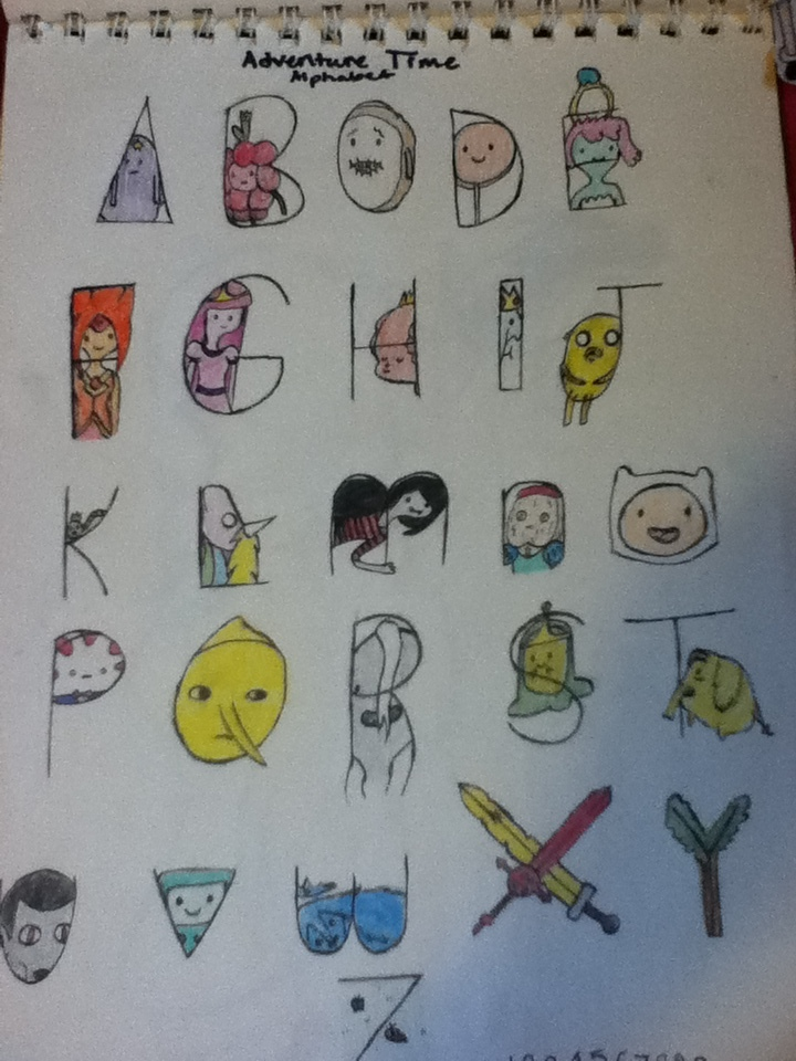 Adventure Time Alphabet on Behance