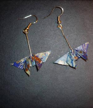 Origami Earrings: Butterfly