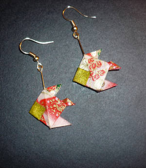 Origami Earrings: Angel Fish