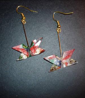 Origami Earrings: Butterfly 2