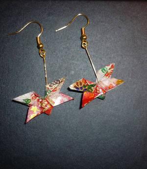 Origami Earrings: Butterfly 3
