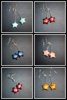 Origami Earring: stars n mario