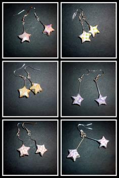 Origami Earrings: pattern star