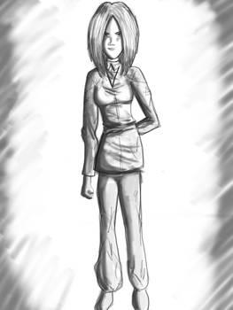 Janice character sketch iPad Pro