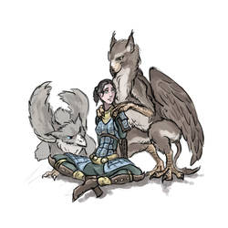 griffin and a girl