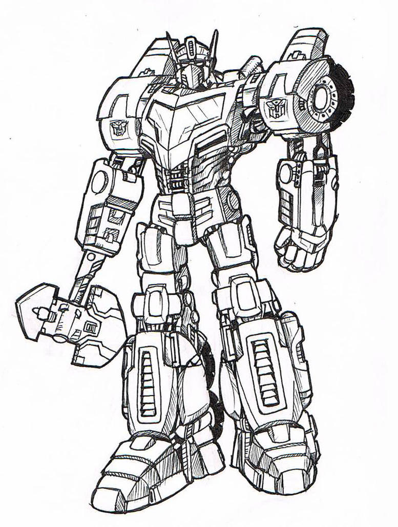 Images Of Sentinel Prime Coloring Pages
