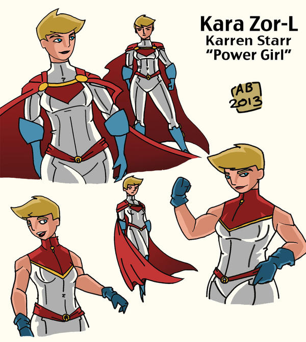 Power Girl Redesign by GeekyAnimator
