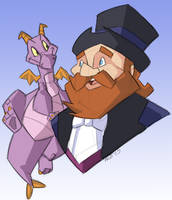 Dreamfinder and Figment by GeekyAnimator
