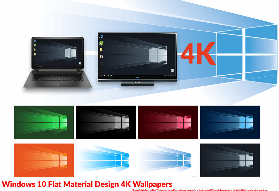 Windows 10 Material Design Based 4K Wallpapers by ...