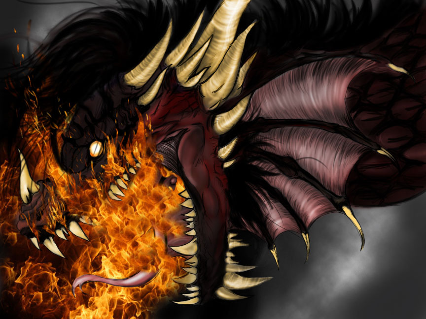 Smaug's Fire colored by dahliamicaela