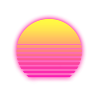 RetroWave Sun with Alpha background by robilo