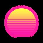RetroWave Sun with Alpha background
