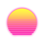 RetroWave Sun with Alpha background