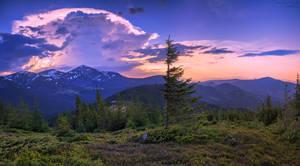 Evening storm over the Carpathians