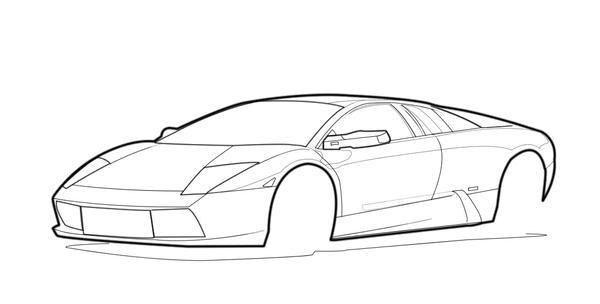 Lamborghini Outline By Supernova7 On Deviantart