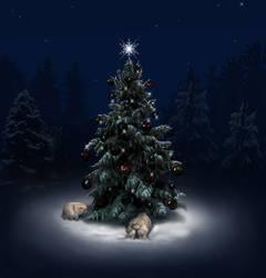 Christmas Bunnies by DragonDew