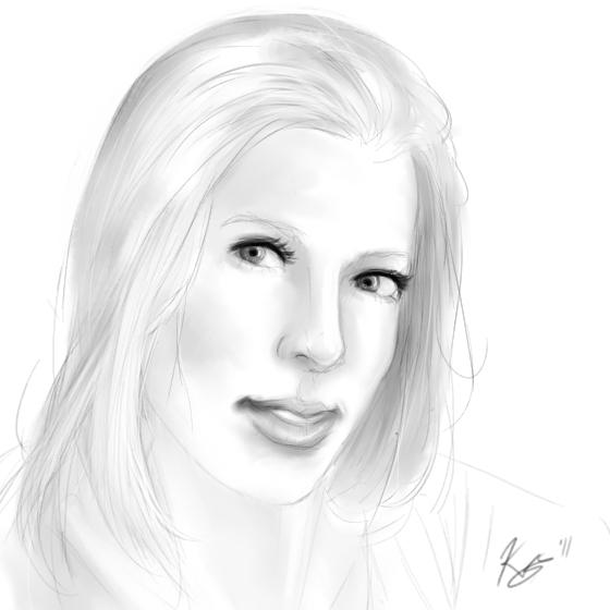 Blond Hair Sketch By Karisean On DeviantArt