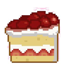 Cake Slice Pixel Art : Strawberry Shortcake Pixel Art by Karisean on DeviantArt