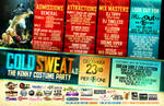 Cold Sweat - Party Flyer Back