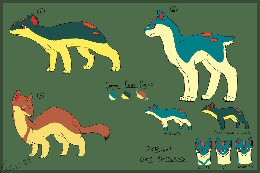 Quilava Variations by ScarletAddendum