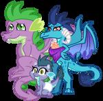 Mlp Next Gen Spike x Ember Family