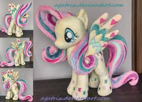 Rainbow Power Fluttershy plush by agatrix